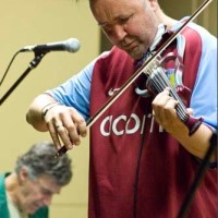 Allan Zavod jamming with Nigel Kennedy at the Abbotsford Convent, Melbourne 2010 - click to see an enlarged version of this image