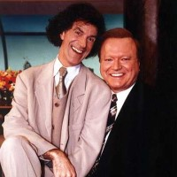 Allan Zavod and Bert Newton on the set of Good Morning, Melbourne in 1998 - click to see an enlarged version of this image