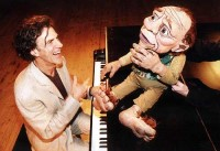 Allan Zavod with Bilbo Baggins - Puppet from stage play of 'The Hobbit' - click to see an enlarged version of this image