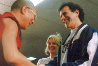 Allan Zavod peformed for a 1992 Melbourne fund-raising event for the Dalai Lama - click to see an enlarged version of this image
