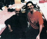 Allan Zavod and Director Ed Pressman on the set of the Movie 'Martians Go Home' in 1989 - click to see an enlarged version of this image