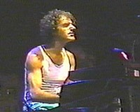 Allan Zavod on tour with Frank Zappa (1984) - click to see an enlarged version of this image