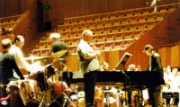 James Morrison and Allan Zavod rehearsing for the Munich Trumpet Concerto