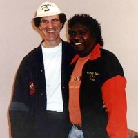 Allan Zavod with Mandawuy Yunupingu (1992 Australian of the Year) from the band 'Yothu Yindi' - click to see an enlarged version of this image