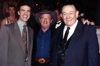 Allan Zavod with old friend Maurie Fields & Slim Dusty - click to see an enlarged version of this image