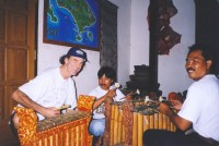 Allan Zavod taking a Balinese Gamelan Lesson - click to see an enlarged version of this image