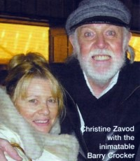Christine with Barry Crocker in 2006 - click to see an enlarged version of this image
