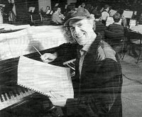 Composer Allan Zavod at the Wesley College Jazz Workshop - 1995 Newspaper article - click to see an enlarged version of this image