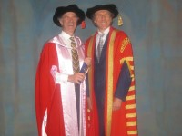 Dr Zavod with friend Dr Alan Finkel, Chancellor of Monash University - click to see an enlarged version of this image