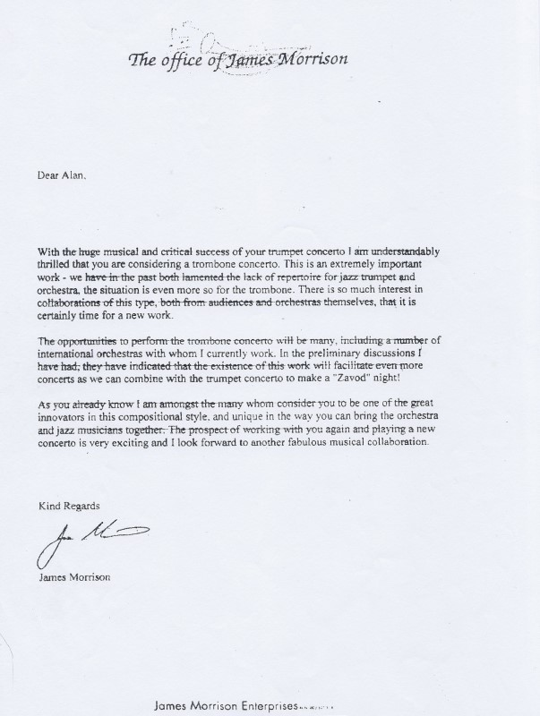 Allan Zavod's thank you letter from Keira Technology High School