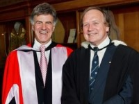 Dr Allan Zavod (BMus) with Dr Tony Cree (OAM) - click to see an enlarged version of this image