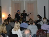 Live at Cafe Latte: Zavod's trio with special guest Paul Williamson - click to see an enlarged version of this image