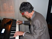 Live at Cafe Latte: Dr. Allan Zavod on Keyboards - click to see an enlarged version of this image