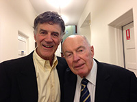 Allan Zavod with composer Prof Ron Farren Price - click to see an enlarged version of this image