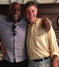 Allan Zavod with Cricketer Sir Vivian Richards - click to see an enlarged version of this image