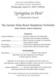 Spring Time in Paris: Palm Beach Symphony Orchestra - click to see an enlarged version of this image
