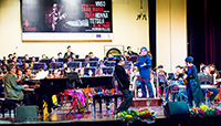 Zavod performing with Vietnamese National Symphony Orchestra, Hanoi Vietnam at the Ha Noi Opera House 2015 - click to see an enlarged version of this image