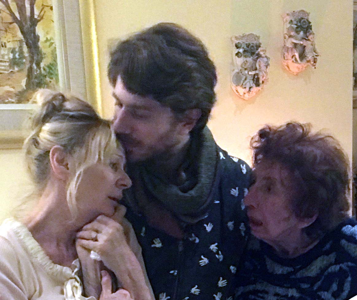 Allan's wife Christine, son Zac, and mother Anne