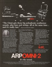 Allan Zavod used on an ARP ad: 1978
