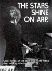 Allan Zavod used on an 1978 ARP ad: 'The stars shine on ARP'