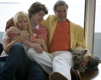 Dr. Allan Zavod at home with wife Christine, son Zak, and dog Sam - click to see an enlarged version of this image