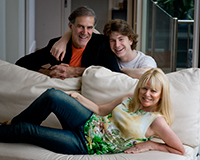 Allan Zavod with with Christine and son Zak - click to see an enlarged version of this image