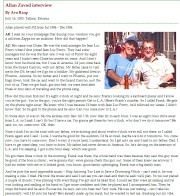 Avo Raup Interviews Allan Zavod in Tallinn, Estonia (2003) about his time with Frank Zappa Jul 1984 - Dec 1984: on his world tour - Page One - click to read enlarged version of this image