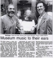 Topol, the veteran Israeli star of 'Fiddler on the Roof' slipped into the St Kilda 'Jewish Museum of Australia' with a friend - keyboard whiz Allan Zavod: 1998.