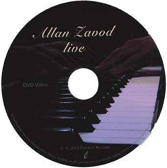 Jazz Master: Dr Allan Zavod recorded live at The Maven Room. An intimate concert of jazz classics and original compositions performed on solo piano by the Jazz Master.  Click to see enlarged image.