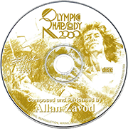 The Olympic Rhapsody 2000: Allan Zavod (solo piano) with the Sydney Symphony Orchestra at the Opera House, Sydney Aus - composed and performed for I.O.C. Sydney Olympics 2000.  Click to see enlarged image.