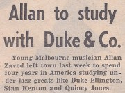 Allan Zavod to study with Duke Ellington, Stan Kenton & Quincy Jones