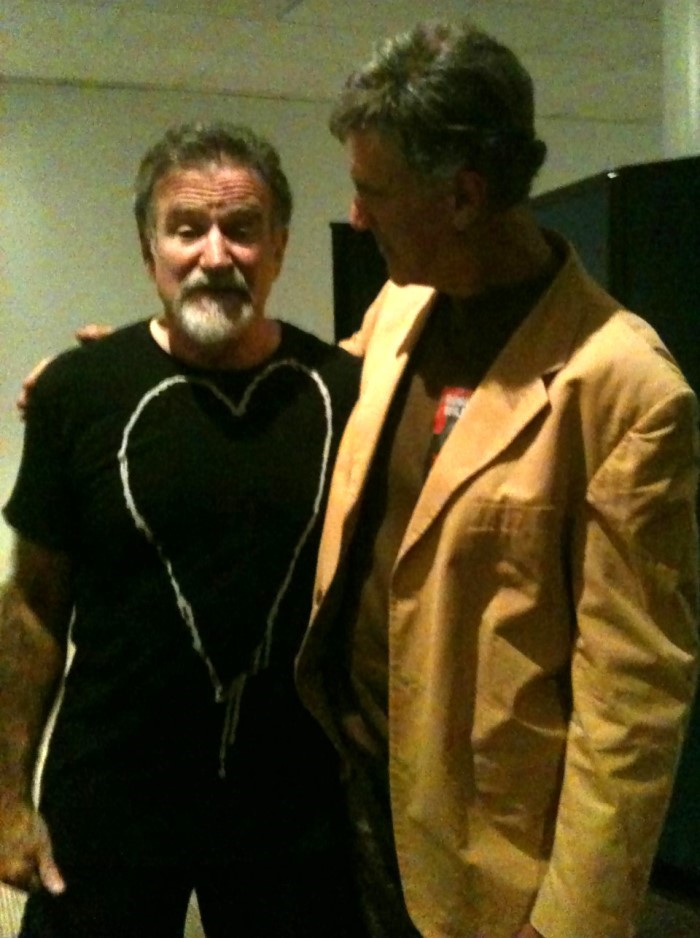 Allan Zavod with talented friend Robin Williams
